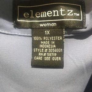Elementz Tops - Elementz 1X Periwinkle Blouse